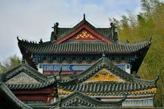 Kinesisk forntida arkitektur, tempel arkivfoton