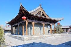 Kinesisk forntida byggnad Arkivfoto