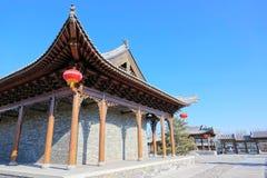 Kinesisk forntida byggnad Arkivbild