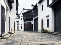 Kinesisk forntida gata fotografering för bildbyråer