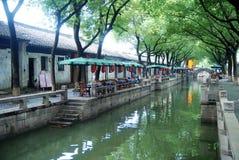 Kinesisk forntida town i Tongli royaltyfri fotografi
