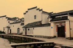 Kinesisk forntida traditionell arkitektur Arkivbild