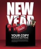 Kinesisk för Sale för nytt år påse shopping och apabakgrund Arkivfoto