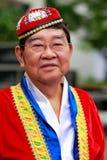 Kinesisk gamal man för huinationalitetman Arkivfoto