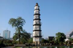 kinesisk gammal townwatchtower Royaltyfri Bild