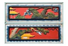 kinesisk gammal träsnideri Royaltyfri Foto