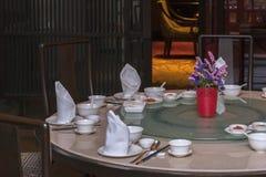 Kinesisk garnering för matställetabell Arkivfoto