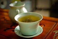 kinesisk grön tea Fotografering för Bildbyråer