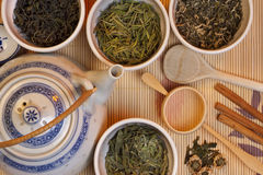 Kinesisk grön Tea Arkivbilder