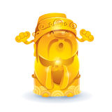 Kinesisk gud av guld- rikedom - Royaltyfria Bilder