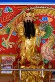 Kinesisk gud av rikedomrich och välstånd Arkivbild