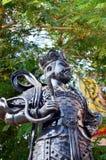 Kinesisk gudkrigarestaty eller fyra himla- konungar Arkivfoto