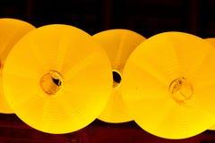 Kinesisk gul lampstil arkivfoto