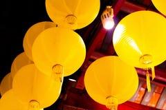 Kinesisk gul lampstil fotografering för bildbyråer