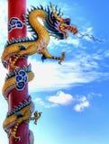 kinesisk guld- drakejätte Royaltyfri Bild