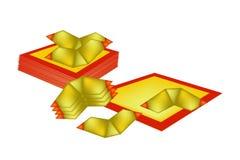 Kinesisk guld och Joss Paper för kinesiskt nytt år Arkivbild