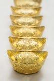 Kinesisk guldtacka Royaltyfri Foto