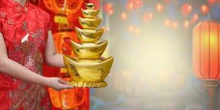 Kinesisk guldtacka för nytt år royaltyfri bild
