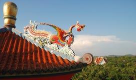 kinesisk haneskulptur Fotografering för Bildbyråer