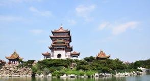 Kinesisk historisk arkitektur Arkivfoto