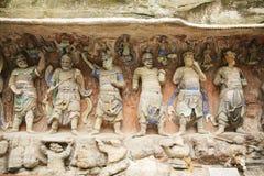 Kinesisk historisk arkitektur, världskulturarv royaltyfri bild