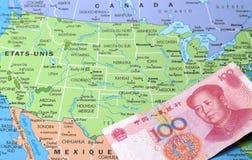Kinesisk huvudstad in i USA Arkivfoto