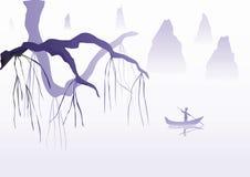 kinesisk illustration Arkivfoton