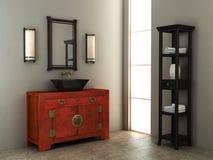 kinesisk inre stil för badrum Royaltyfria Bilder