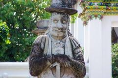 Kinesisk jätte- staty i Wat Po Bangkok Thailand Fotografering för Bildbyråer