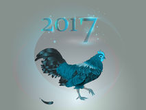 Kinesisk kalender År av tuppen 2017 Arkivfoto