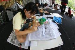Kinesisk kalligrafi Fotografering för Bildbyråer