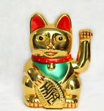 Kinesisk kattmanekineko, inviterande katt royaltyfri bild