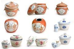 kinesisk keramik Arkivbild