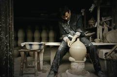Kinesisk keramiker Arkivfoton
