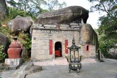 Kinesisk kinesisk fushengyan tempel Arkivbild