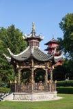 Kinesisk kiosk på museerna av Faret East, Bryssel arkivfoto