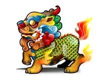 kinesisk kirin royaltyfri illustrationer