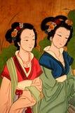kinesisk klassisk damtoalettmålning Arkivfoton