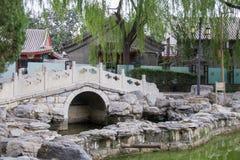 Kinesisk klassisk trädgård Arkivfoto