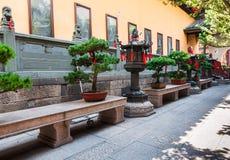 Kinesisk kloster Arkivfoto