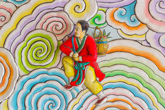 Kinesisk konststilmålning Arkivfoto