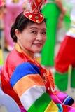 Kinesisk koreansk etnisk äldre kvinna Arkivfoto