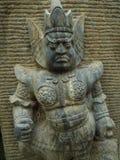 Kinesisk krigare för skulptur royaltyfria bilder