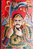 Kinesisk krigaremålning Arkivbilder