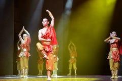 Kinesisk krigaremunk Arkivfoton