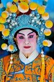 Kinesisk kvinna för nytt år i traditionell dräkt Arkivfoton