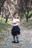 Kinesisk kvinnadans i träna 01 Royaltyfri Foto