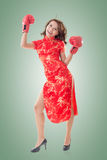 Kinesisk kvinnakamp arkivfoton
