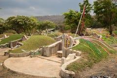 Kinesisk kyrkogård under den Ching Ming festivalen Arkivfoton