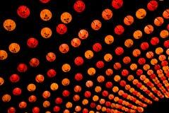 kinesisk lanternatt Arkivfoto